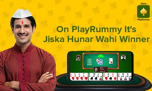 On PlayRummy It's Jiska Hunar Wahi Winner