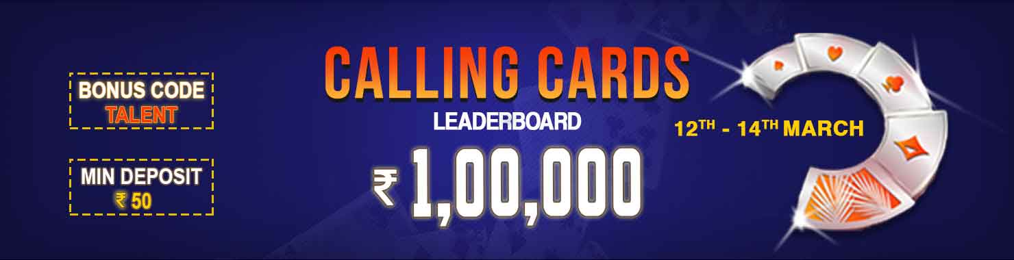 Calling Cards Leaderboard Contest