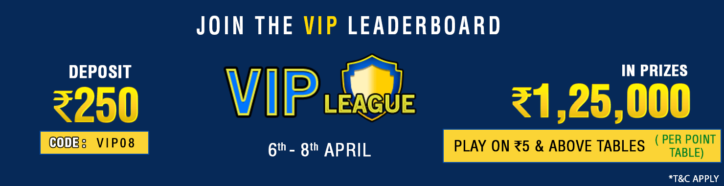VIP League Leaderboard Contest