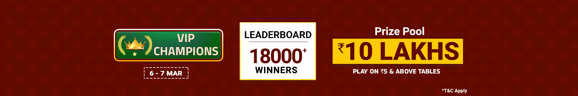 Vip League Leaderboard Contest