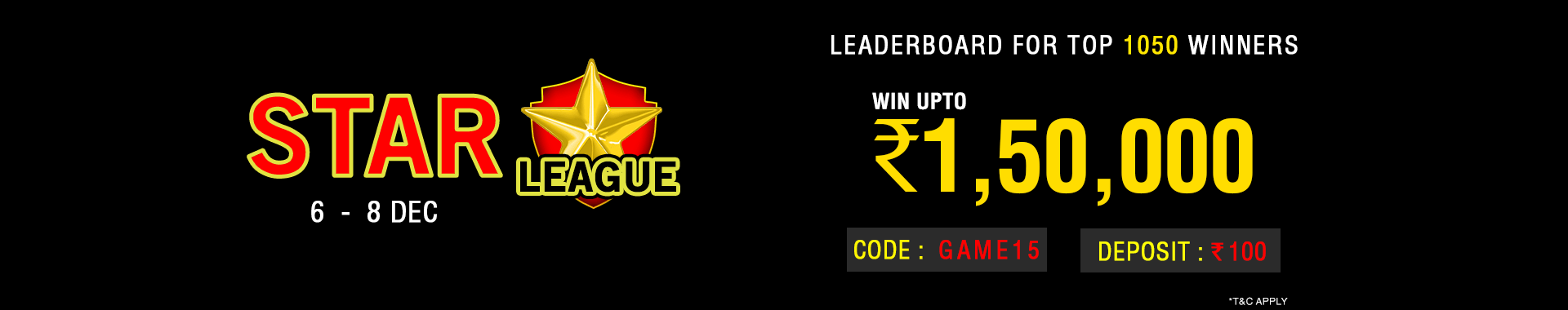Star League Leaderboard Contest