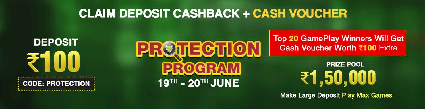 Protection Program Deposit And GamePlay Cashback Contest