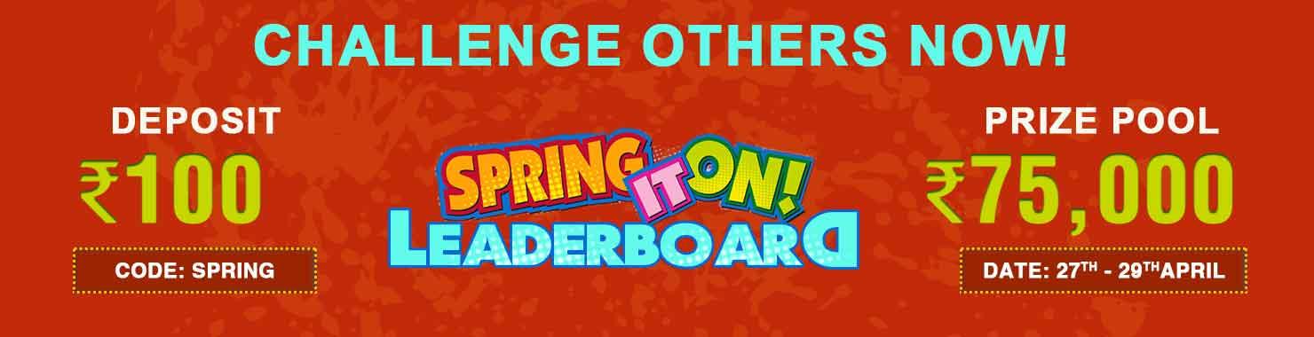 Spring Win Leaderboard Contest